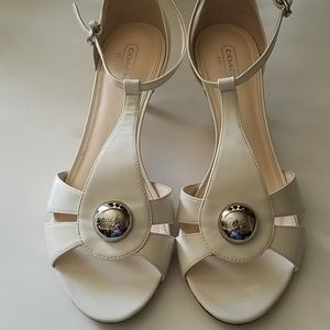 """Coach"" Hellena patent leather heels"